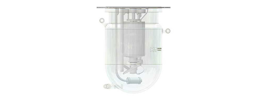Biorector vessel with spin filter